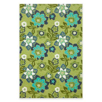 Trans-Ocean Ravella Floral 7-Foot 6-Inch x 9-Foot 6-Inch Indoor/Outdoor Area Rug in Green