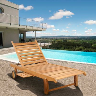 Teak Outdoor Furniture Chaise Lounge