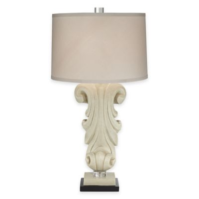 Pacific Coast® Lighting Carlyle Table Lamp in Natural with Cotton Shade
