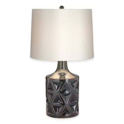 Pacific Coast® Lighting Starburst Table Lamp in Grey with Cotton Shade