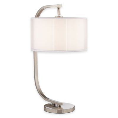 Pacific Coast® Lighting Semi-Orbit Table Lamp with in B rushed Nickel