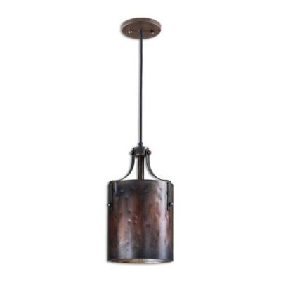 Uttermost Akron 1-Light Mini Pendant in Copper