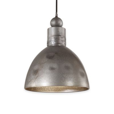 Uttermost Adelino 1-Light Pendant in Rust Silver