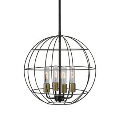 Uttermost Palla 4-Light Sphere Pendant Light in Bronze
