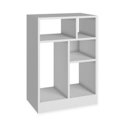 Manhattan Comfort Valenca Bookcase 1.0 in White