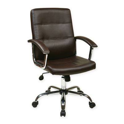 Office Star Products Ave Six Malta Office Chair in Espresso