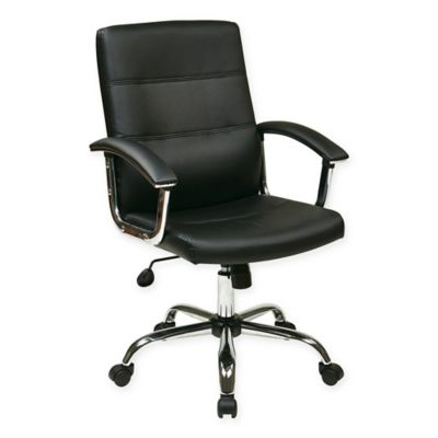 Office Star Products Ave Six Malta Office Chair in Black