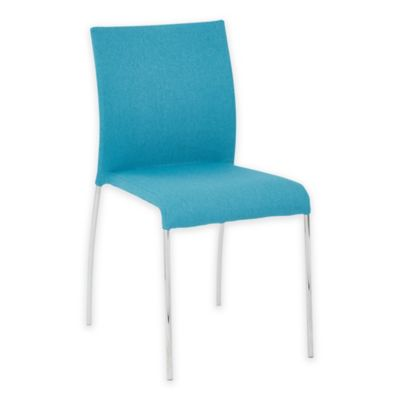 Office Star® Products Conway Stacking Chairs in Aqua (Set of 4)