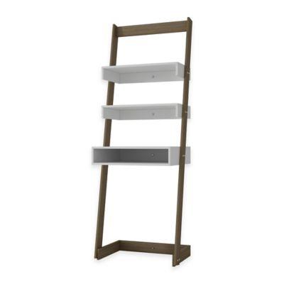 Manhattan Comfort Urbane Carpina 2-Shelf Ladder Desk in White