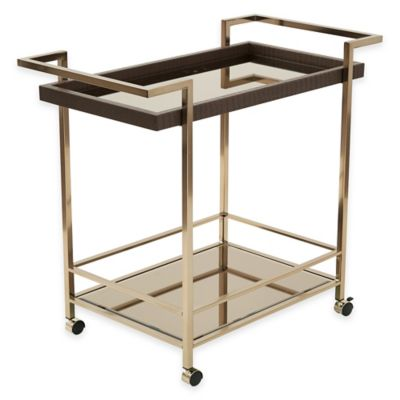 Office Star® Products Isabella Wine Cart in Champagne