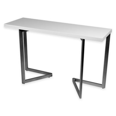 Expanding Console Dining Table in White