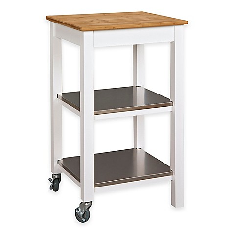 kitchen island cart with bamboo top and stainless steel kitchen island carts bed bath and beyond kitchen