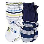 Gerber® Newborn 4-Pack Mittens in Lion/Navy/Stripe