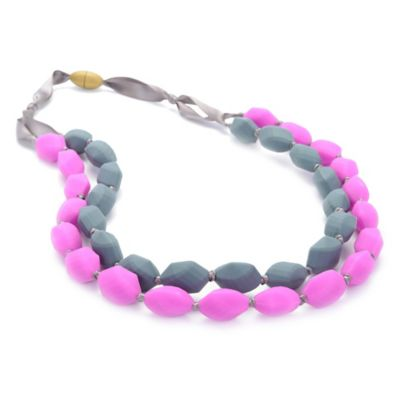 Chewbeads Astor Necklace in Pink/Grey