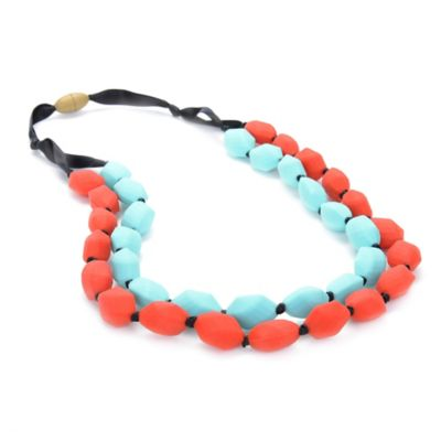 Chewbeads Astor Necklace in Red/Turquoise