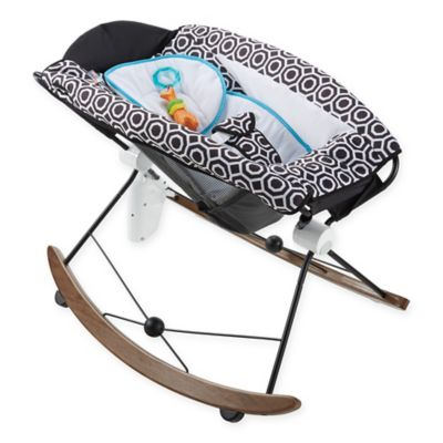 Jonathan Adler® Crafted by Fisher Price® Infant Rocker in Black/White