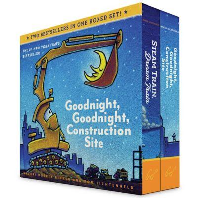 """Goodnight, Goodnight, Construction Site"" and ""Steam Train, Dream Train"" Board Book Set"