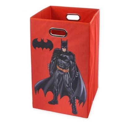 Modern Littles Batman Graphic Folding Laundry Basket in Red