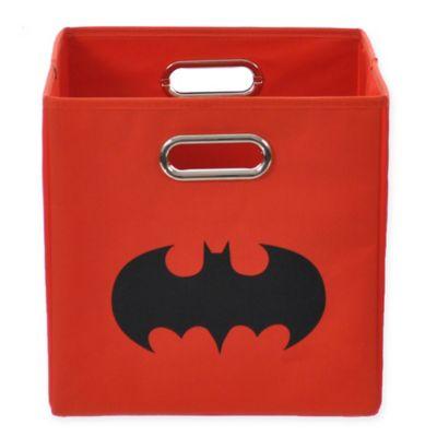 Modern Littles Batman Shield Folding Storage Bin in Red