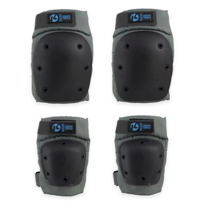 Kryptonics Pro Size S/M Battleship Knee and Elbow Pad Set in Black
