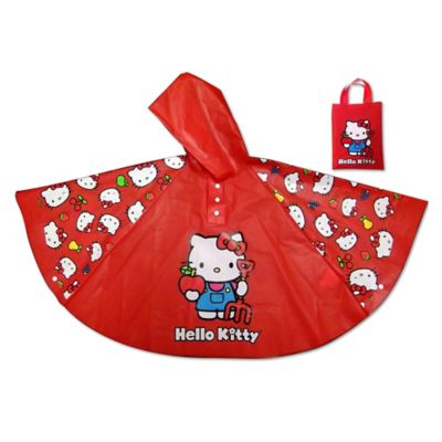 Hello Kitty Rain Poncho in Red