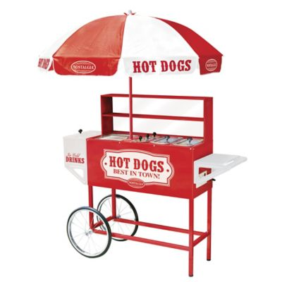 Nostalgia™ Electrics Large Hot Dog Cart with Umbrella