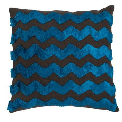 Callisto Home Andrea Throw Pillow in Blue