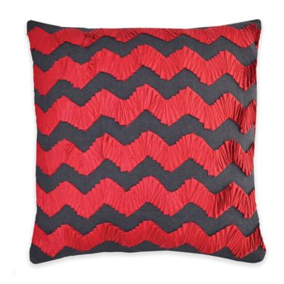 Callisto Home Andrea Throw Pillow in Red