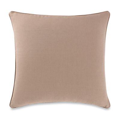 Aura Silki Box 20-Inch Square Throw Pillow in Brown Sugar