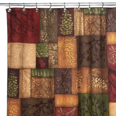Avanti Adirondack Pine 70-Inch x 72-Inch Fabric Shower Curtain