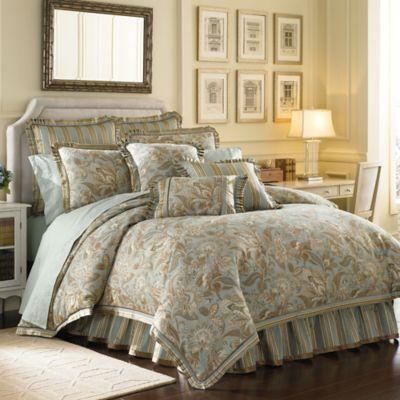 J. Queen New York™ Barcelona King Comforter Set in Aqua