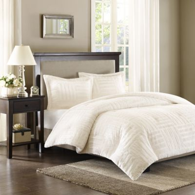 Premier Comfort Artic Twin Fur Down Alternative Comforter Mini Set in Ivory