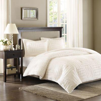 Premier Comfort Artic Twin Fur Down Alternative Comforter Mini Set in Ivory