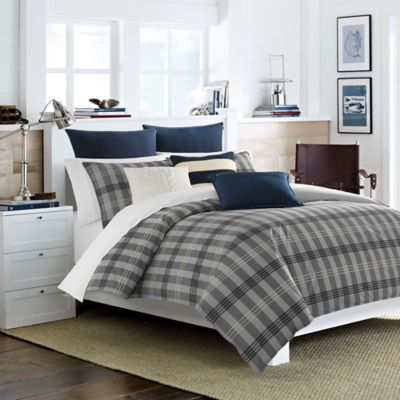 Nautica® Peary Twin Duvet Cover Set in Medium Grey