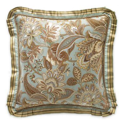 J. Queen New York™ Barcelona Jacobean Floral Square Throw Pillow in Aqua