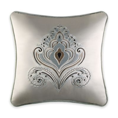 J. Queen New York™ Romance Embroidered Square Throw Pillow in Spa
