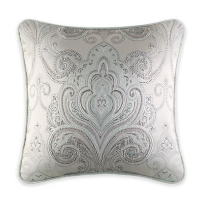J. Queen New York™ Romance Medallion Square Throw Pillow in Spa