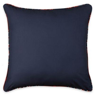Izod® Brisbane Plaid European Pillow Sham in Navy