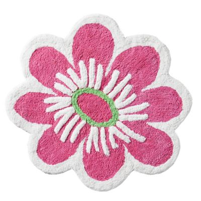 VCNY Big Believers Magical Garden Flower Bath Rug in Pink