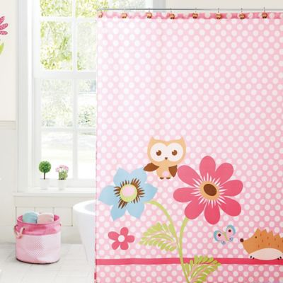 VCNY Big Believers Magical Garden Shower Curtain in Pink