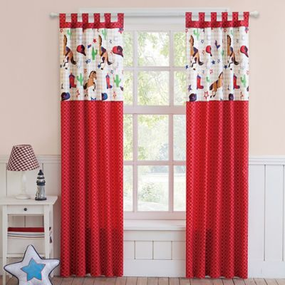 VCNY Big Believers Yeehaw 84-Inch Rod Pocket Window Curtain Panel Pair
