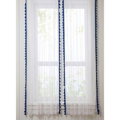 VCNY Big Believers Yeehaw 84-Inch Rod Pocket Sheer Window Curtain Panel Pair