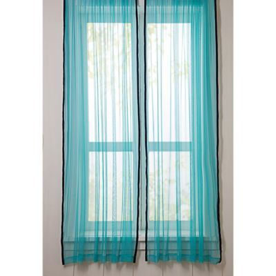 VCNY Big Believers Out of This World 84-Inch Rod Pocket Sheer Window Curtain Panel Pair
