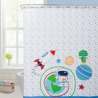VCNY Big Believers Out of This World Shower Curtain