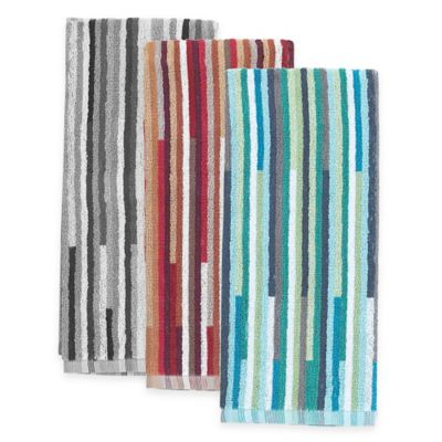 Aria Stripe 2-in-1 Duo Kitchen Towel in Teal