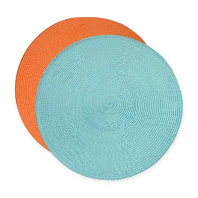 Klaussner Braided Placemat Set in Aruba Blue (Set of 6)