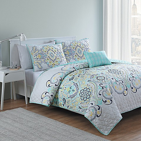 Vcny Leaf  Piece Full Size Bed Set