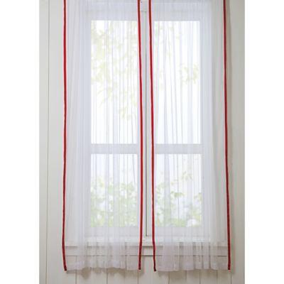 VCNY Big Believers Rock Star 84-Inch Rod Pocket Sheer Window Curtain Panel Pair
