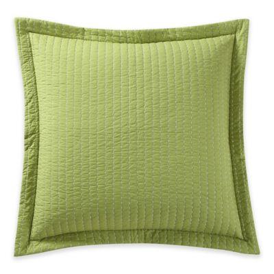Fiesta® Dash Reversible European Pillow Sham in Sunflower/Green