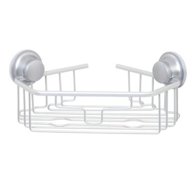 TITAN PowerGrip™ NeverRust™ Suction Corner Shower Basket